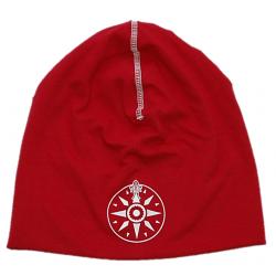Röd mössa med SXK-logga
